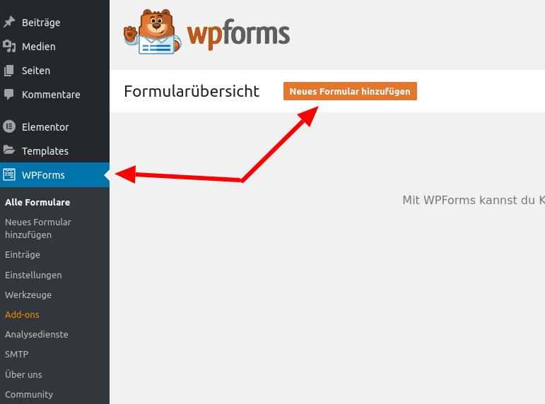 WP Forms - Kontaktformular (Schritt 2)