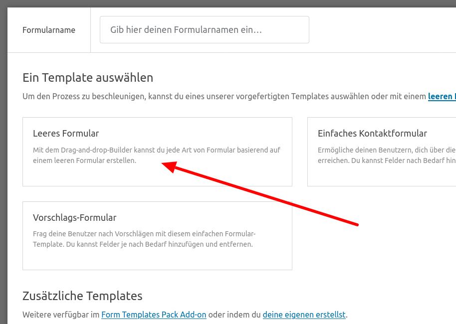 WP Forms - Kontaktformular (Schritt 3)