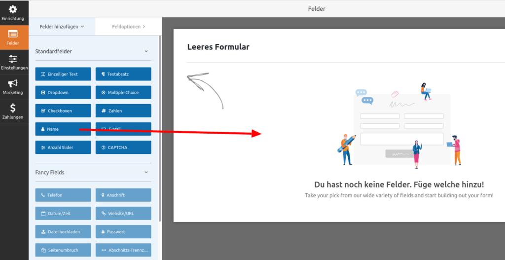 WP Forms - Kontaktformular (Schritt 4)