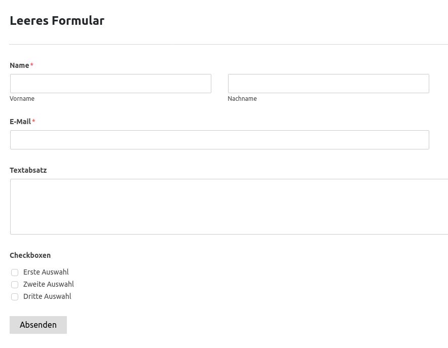 WP Forms - Kontaktformular (Schritt 5)