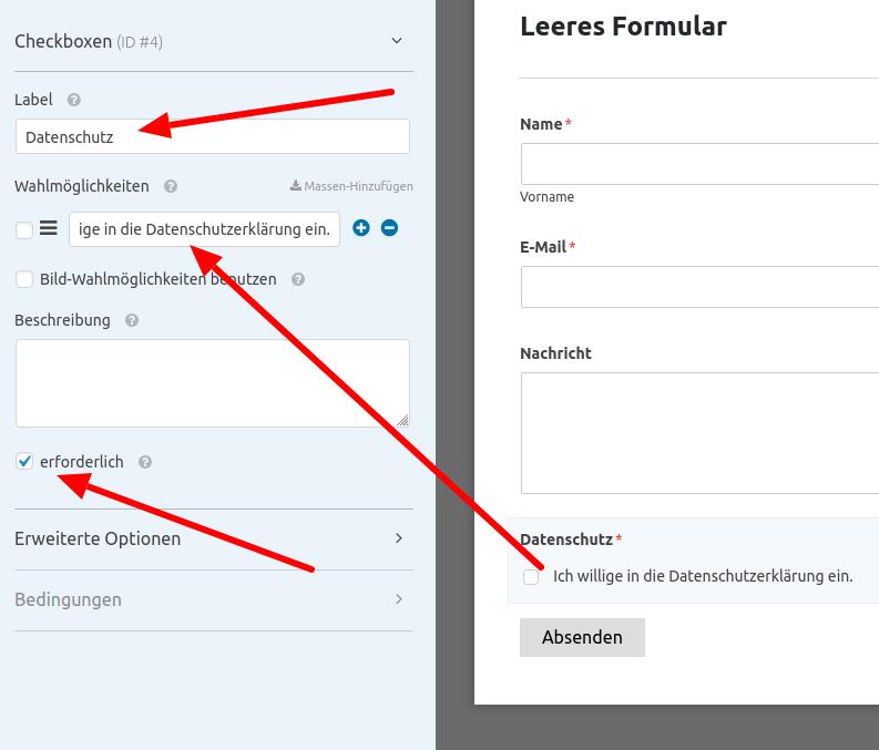 WP Forms - Kontaktformular (Schritt 8)
