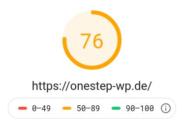 Ladegeschwindigkeit Test 1 - Desktop