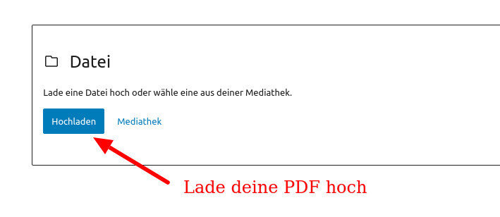 PDF verlinken in WordPress 2