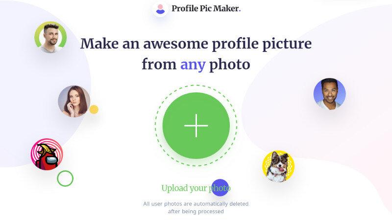 Profile Picture Maker - Webseite